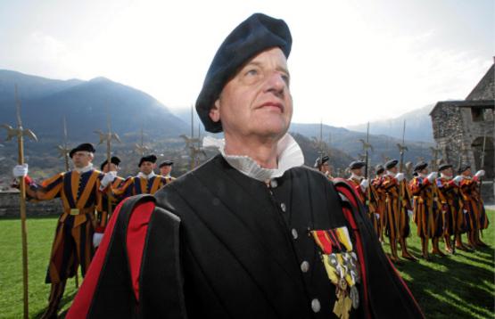 Пять лет назад швейцарской гвардии