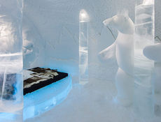 ����� ����� � ������� ����� Icehotel , ����������  ����������� �� 1600 ���� ����.
