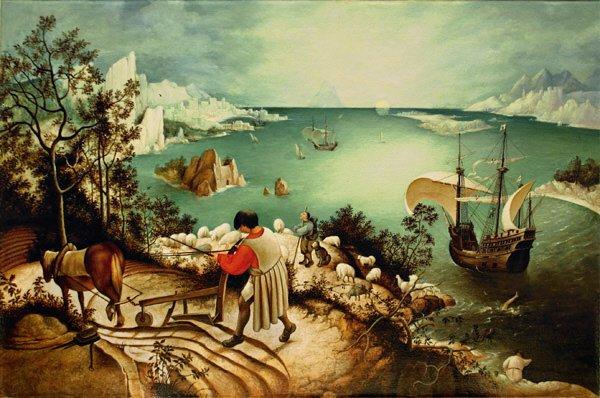Питер Брейгель Старший, «Падение Икара». Брюссель, Королевский музей изящных искусств