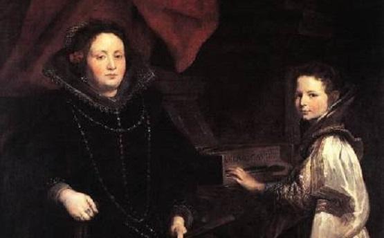 Антонис Ван Дейк, фрагмент «Портрет Порции Империале и ее дочери». Брюссель, Королевский Музей Изящных Искусств