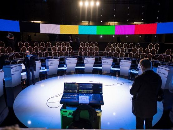 ЛеПен иМакрон удерживают паритет впредвыборных опросах