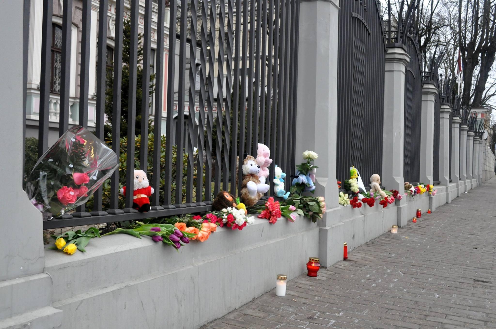 У посольства РФ в Риге